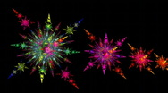 Snow in the neon light Stock Footage