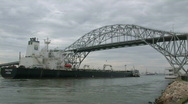 Stock Video Footage of Oil tanker Proteo Corpus bridge M HD