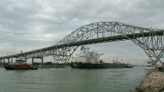 Stock Video Footage of Oil tanker Proteo Corpus bridge tow M HD