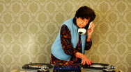 Stock Video Footage of granny dj disco music retired elderlyfun club party awesome
