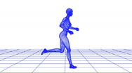 Stock Video Footage of Wire woman running loop