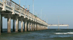 Fishing pier Bob Hall close S M HD Stock Footage