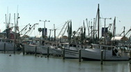 Stock Video Footage of Boats shrimp marina closer Corpus M HD