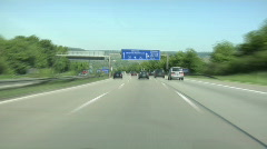German Autobahn - time lapse - stock footage