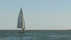 Sailboat in Port Aransas channel 2 M HD Stock Footage