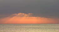Sunset & Clouds Over Ocean Stock Footage