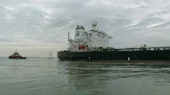 Oil tanker Proteo Corpus Christi tugs track M HD - stock footage