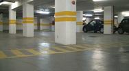 Underground parking lot Stock Footage