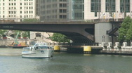 Stock Video Footage of Chicago River Boat