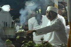 Balinese Priest 1 Stock Footage