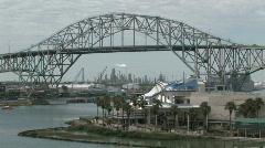 Texas State Aquarium bridge oil refinery M HD Stock Footage