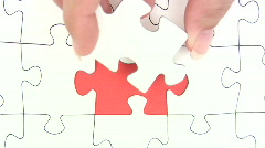 Missing Jigsaw Piece - stock footage