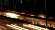 Freeway Time-lapse Night 08 Stock Footage