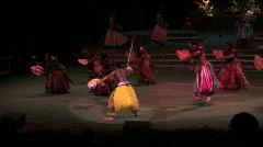 Hawaiian show Fiji dance LDS University Hawaii M HD Stock Footage
