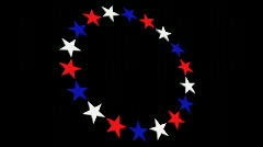 db circle of stars 02 hd720 - stock footage