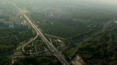 Road interchange - aerial Stock Footage