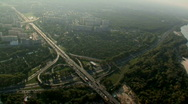 Stock Video Footage of Road interchange - aerial