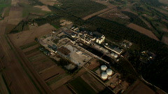 Factory aerial 1.mov Stock Footage