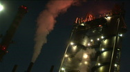 Stock Video Footage of Factory at night 5
