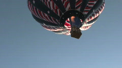 Hot air balloon liftoff –Stars & Stripes - stock footage