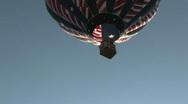Hot air balloon liftoff –Stars & Stripes Stock Footage