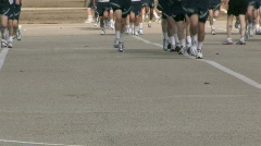 USAF Basic trn run legs 30f P - stock footage