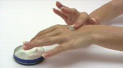 Hand Cream Stock Footage