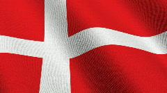 Flag of Denmark Stock Footage