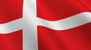 Stock Video Footage of Flag of Denmark