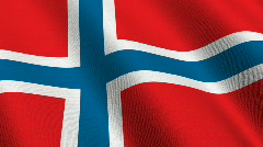 Flag of Norway Stock Footage