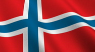 Stock Video Footage of Flag of Norway