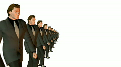 business team marching - stock footage