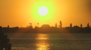 Florida Sunset Stock Footage