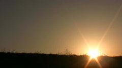 Dance girl sunset Stock Footage