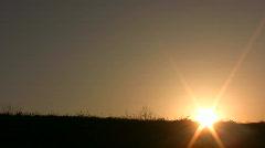Walking family sunset Stock Footage