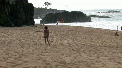 Hawaii beach Waimea Bay M HD Stock Footage