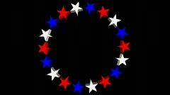 db circle of stars 04 hd720 - stock footage