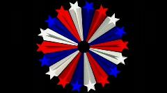 db circle of stars 05 hd720 - stock footage