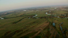 Aerial - scenic river Stock Footage