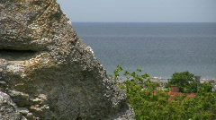 Stone and ocean Stock Footage