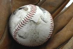 Baseball and glove cu 2 Stock Footage