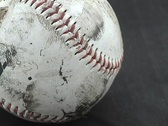 Stock Video Footage of Baseball close up 2