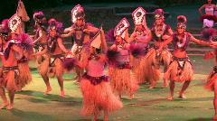 Hawaii polynesian Tahiti dancers Sound M HD Stock Footage