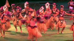 Hawaii polynesian Tahiti dancers Sound M HD - stock footage