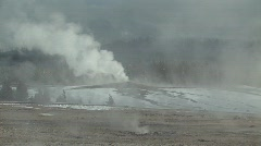 Geyser erupting Stock Footage