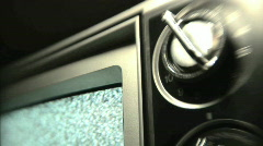 Static TV - Snow on Retro Television - stock footage