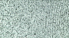 Static on Television Screen Full Frame Background Stock Footage
