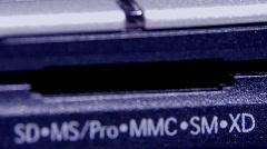 Card reader slot.mov Stock Footage