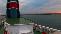 Ship funnel.mov Stock Footage