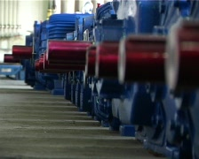 Large industrial motors in a storehouse 3.mov Stock Footage